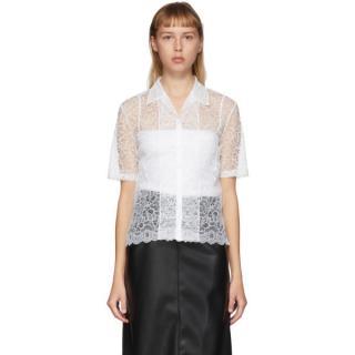 Commission White Lace Bowling Shirt