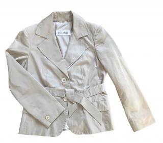 Max Mara Beige Tailored Lightweight Jacket