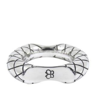 Bottega Veneta Sterling Silver Intrecciato Concave Ring