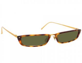 Linda Farrow 838 C3 Tortoiseshell Rectangular Sunglasses