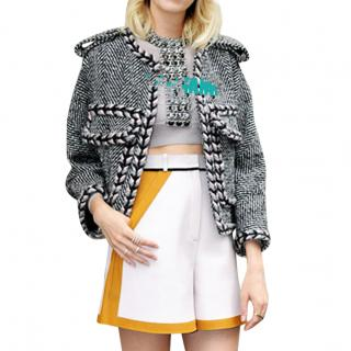 Very rare braided trim chevron tweed jacket & dress