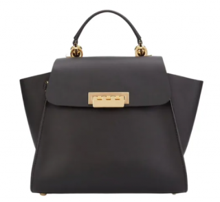 Zac Posen Black Leather Top Handle Bag