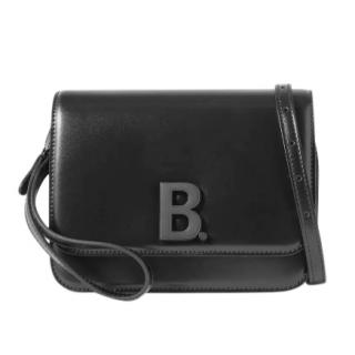 Balenciaga Black Leather B Dot Shoulder Bag