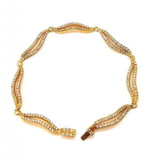 Bespoke 18ct Yellow Gold Diamond Set Link Bracelet