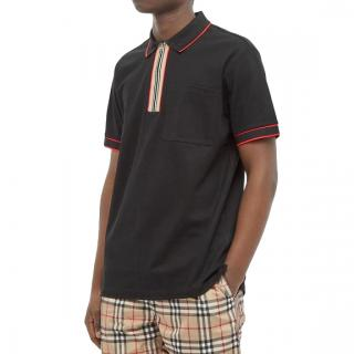 Burberry Waltham Check Placket Zip Polo
