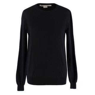 Stella McCartney Black Wool Knit Sweater
