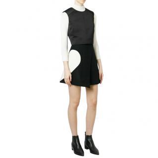 MSGM Heart Detail Asymmetric Wool Blend Wrap Skirt