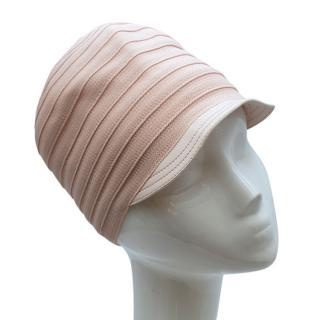 Christian Dior Pink Knit & Lambskin Hat