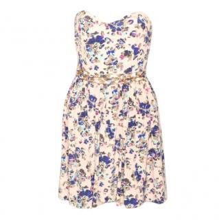 Zimmermann Floral Print Strapless Dress