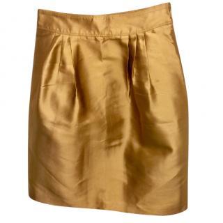 Burberry Metallic Silk Skirt