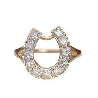 Bespoke 14ct Yellow Gold Diamond Horseshoe Ring