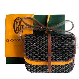 Goyard Black Goyardine Belvedere MM Shoulder Bag