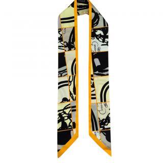 Hermes Silk Printed Twilly