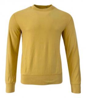 Mr P Yellow Cotton Mens Sweatshirt