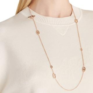 Hermes Rose Gold Farandole long necklace 80, small model