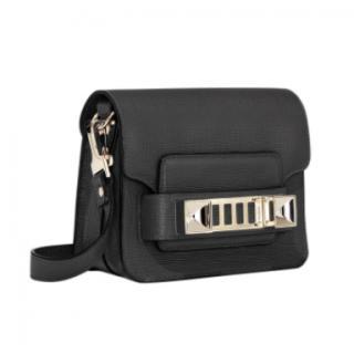 Proenza Schouler Black Smooth Leather PS11 Mini Crossbody Bag