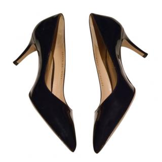 Gianvito Rossi Blue Patent 70mm Pumps