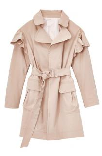 Rebecca Taylor Ruffled Short Trench Coat