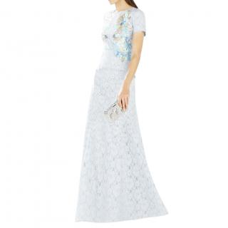 BCBG Max Azria Enaya Lace Peplum Sequin-Detail Gown