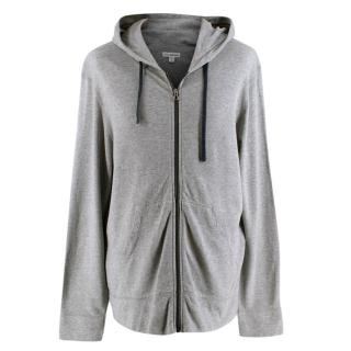 Standard James Perse Grey Cotton Zipped Hoodie