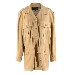 Holland & Holland Camel Suede Vintage Safari Jacket