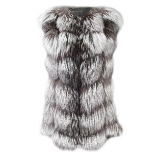 Luxy London Silver Fox Fur Sleeveless Jacket