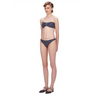 Self Portrait Navy & White Sails Print Bikini Briefs
