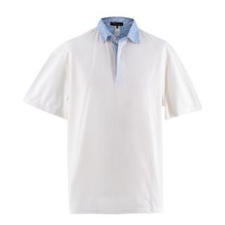 Les Copains for Massa-Capri White Cotton Short Sleeve Polo Shirt