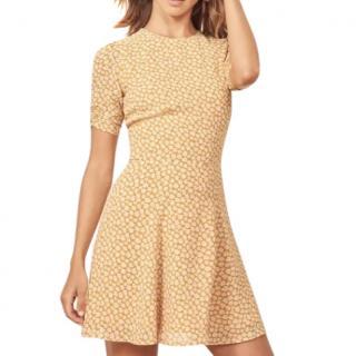 Reformation Yellow Floral Gracie Mini Dress