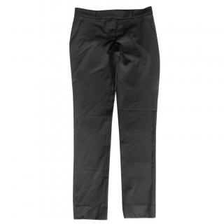 The Row Black Wool Blend Tailored Pants