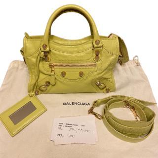 Balenciaga Citrus Yellow Mini City Bag