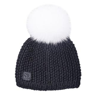FurbySD Fox Fur Pom Pom Merino Wool Hat