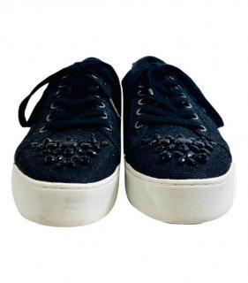 Michael Michael Kors Crystal Embellished Slip-On Sneakers