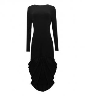 Antonio Berardi Black Waterfall Back Dress