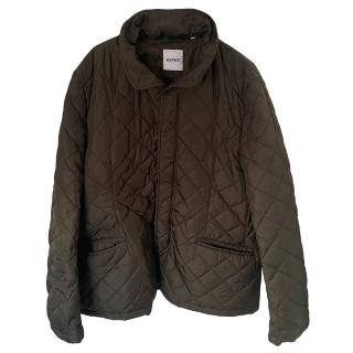 Aspesi Brown Quilted Hooded Jacket