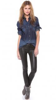Rag & Bone Black Skinny Leather Pants