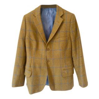 Bespoke Savile Row Mustard Check Tailored jacket
