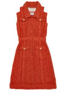 Chanel Runway Coral Tweed Sleeveless Dress