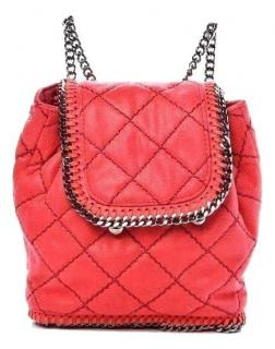 Stella McCartney Red Mini Falabella Backpack