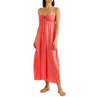 Eres Neon Papaya Strapless Zephyr Rosalie Dress