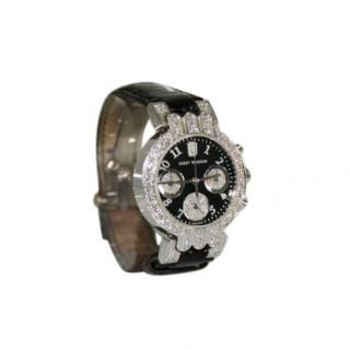 Harry Winston Diamond Set 18kt Gold 32mm Premier Watch