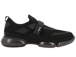 Prada Black Mesh/Rubber Cloudbust Sneakers