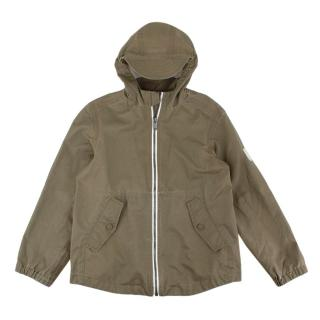 Bonpoint Kid's 8Y Khaki Waterproof Zip Jacket
