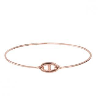 Hermes 18kt Rose Gold Ronde bracelet, small model