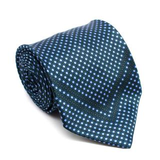 Stefano Ricci Green & Blue Print Silk Tie