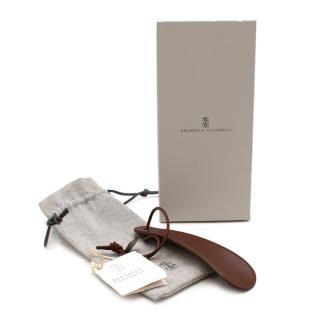 Brunello Cucinelli Brown Leather Shoe Horn