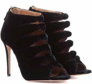 Aquazzura Nasiba 105 velvet sandals