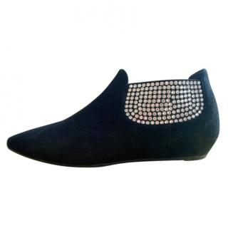 Giuseppe Zanotti Crystal-embellished suede ankle boots
