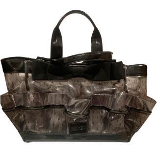 REDValentino Lace Print PVC Tote Bag