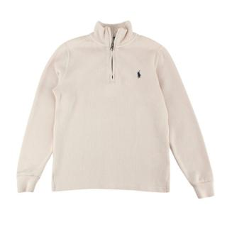 Polo Ralph Lauren Beige Cotton Zipped Sweater
